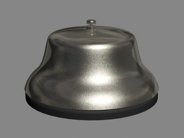 Awe Inspiring Front Desk Bell 3D Model Cadnav Interior Design Ideas Skatsoteloinfo