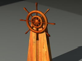 Ship Helm 3d model