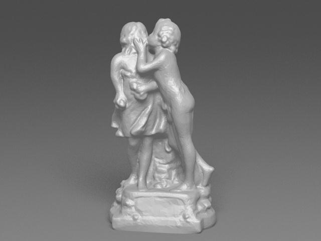 Kissing Lovers Statue 3d model