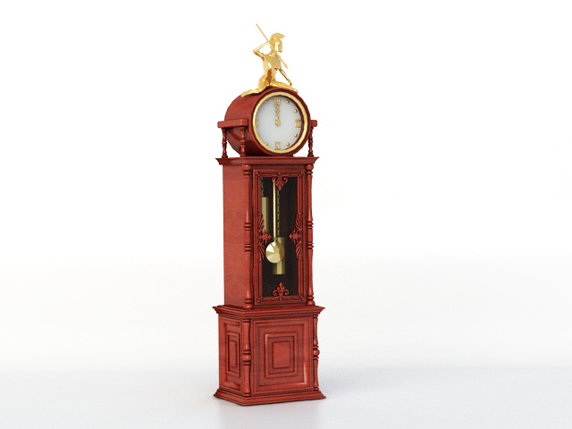 Antique Floor Clock 3d model