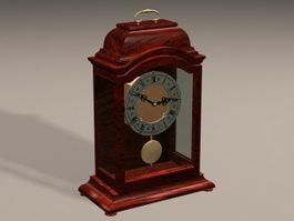 Art Deco Mantel Clock 3d model
