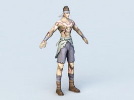 Male Warrior Fighter 3d model