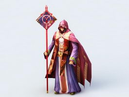Red Sorceress Rig 3d model