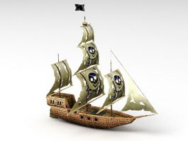 Pirate Ship 3d model