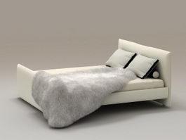 Twin Bed 3d model
