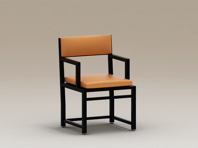 Chinese Style Armchair 3d model