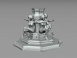 Outdoor Statue Sculpture 3d model