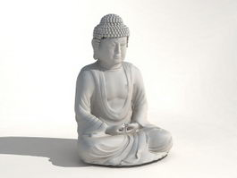 Large Buddha Statue 3d model