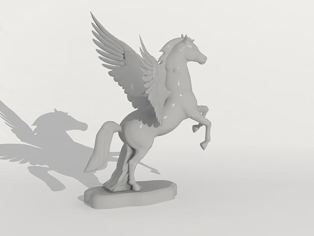 Pegasus Statue 3d model