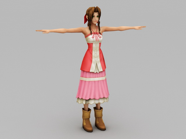Aerith Gainsborough 3d model