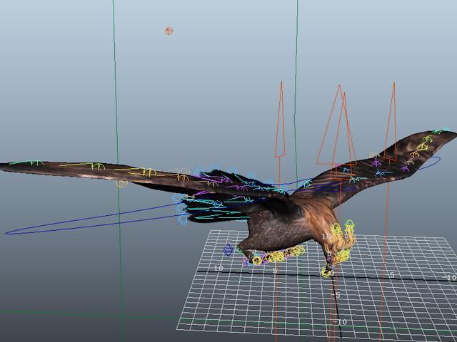 Flying Eagle Rig 3d model