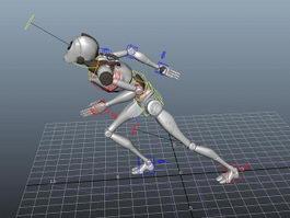 Humanoid Robot Rig 3d model