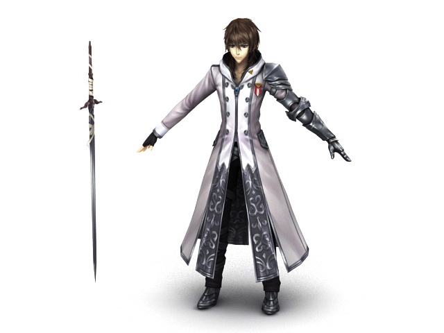Anime Swordsman 3d model