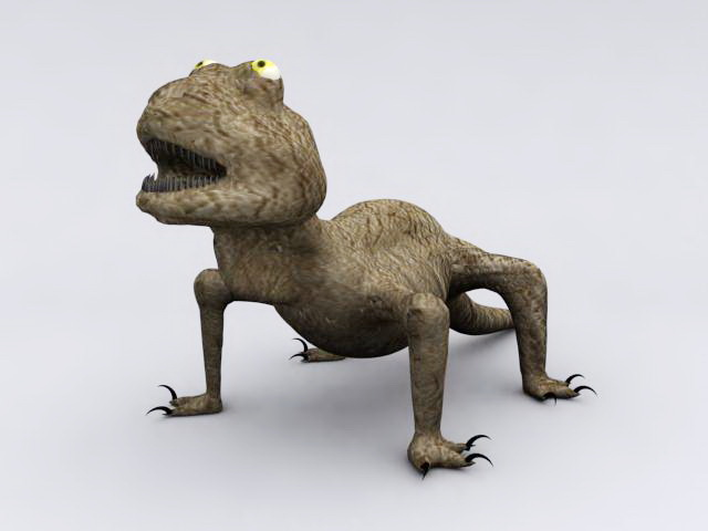 Desert Lizard 3d model