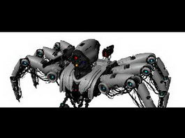 Robotic War Spider 3d model