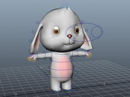 Cartoon Rabbit Rig 3d model