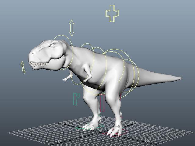 T-Rex Rigging 3d model