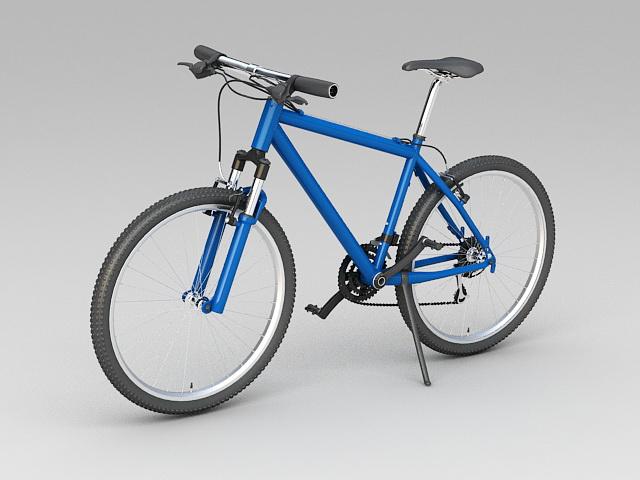 Flat Bar Hybrid Road Bike 3d model