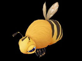 Queen Bee Cartoon 3d model