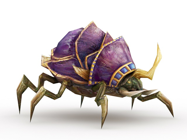 Demon Beetle Creature 3d model