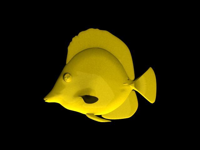 Yellow Tang Fish 3d model