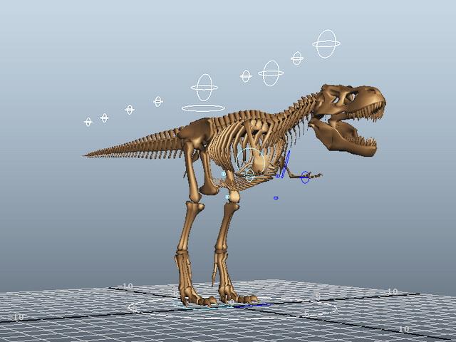 T-Rex Skeleton Rig 3d model