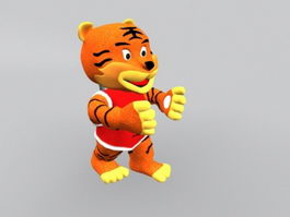 Chinese Tiger Cartoon 3d model