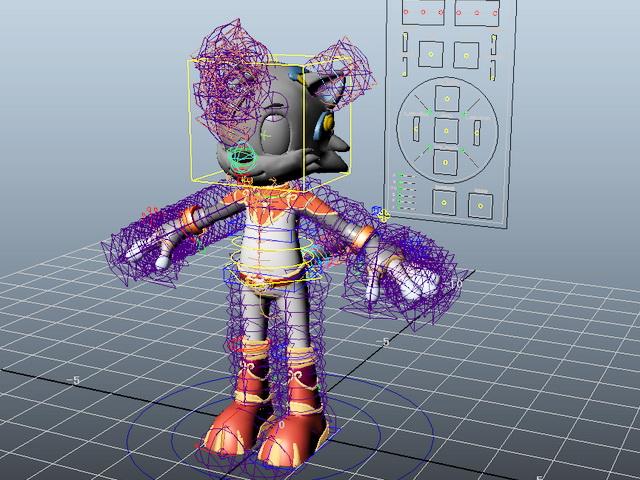 Cartoon Cat Character Rigging 3d model