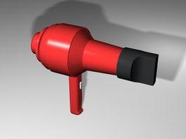 Red Hair Dryer 3d model