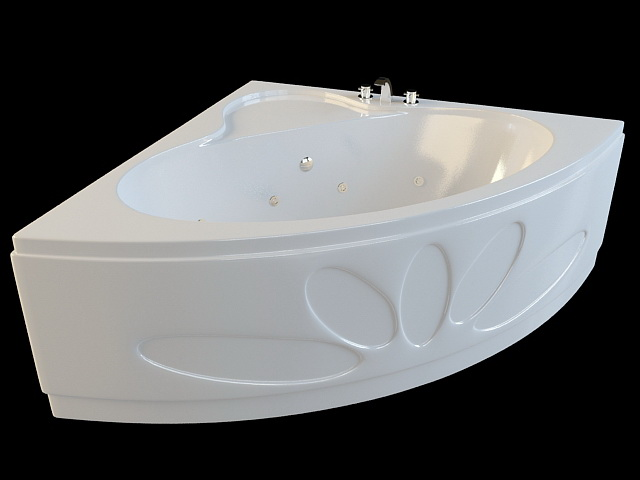 Corner Spa Tub 3d model 3ds Max,Autodesk FBX files free download ...