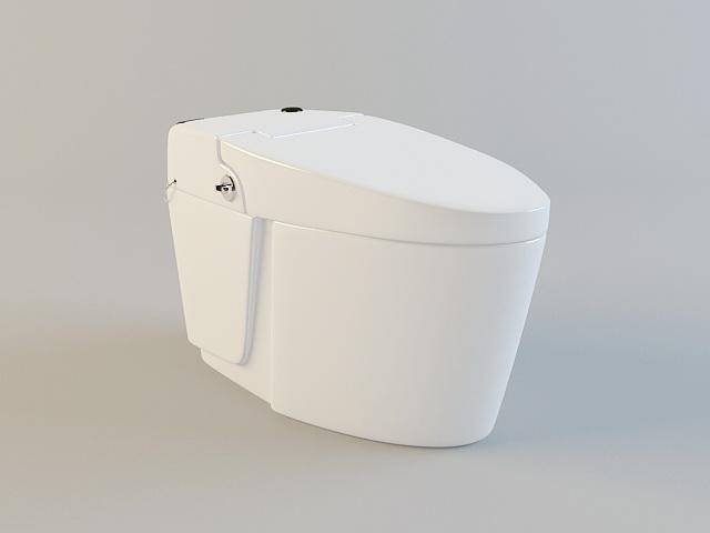 Intelligent Toilet 3d model