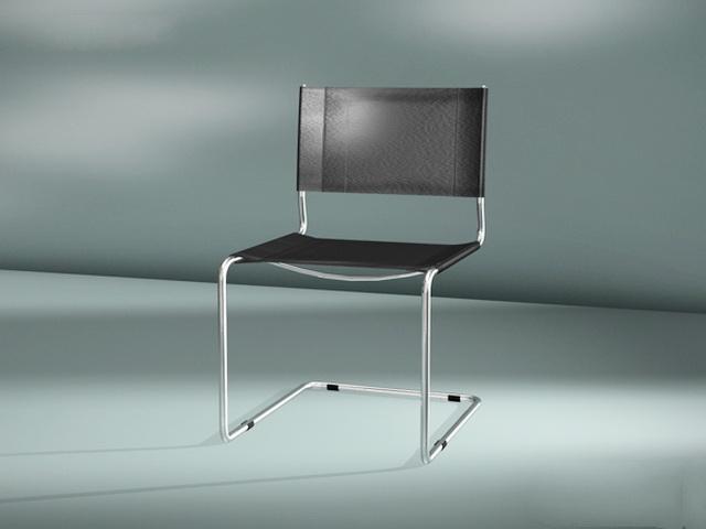 Chrome Cantilever Chair 3d model