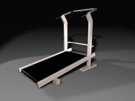 Treadmill Exercise Machine 3d model