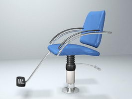 Blue Barber Chair 3d model