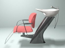 Salon Shampoo Chair 3d model