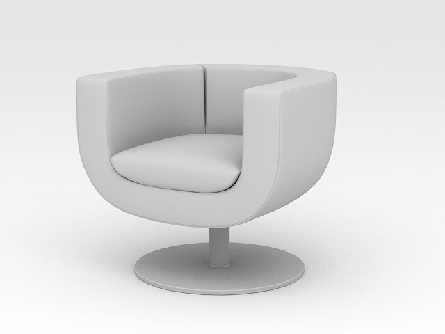 Swivel Club Chair 3d model