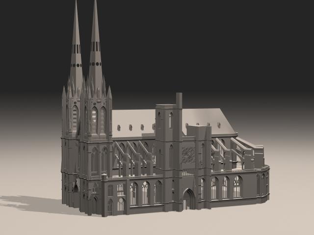 Gothic Building 3d model