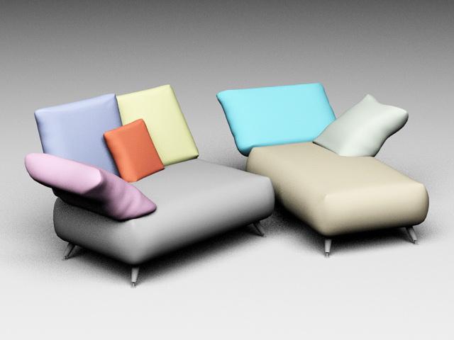 Chaise Longue Sofa 3d model