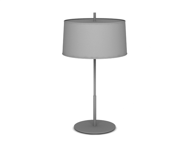 Table Lamp with Drum Shade 3d model
