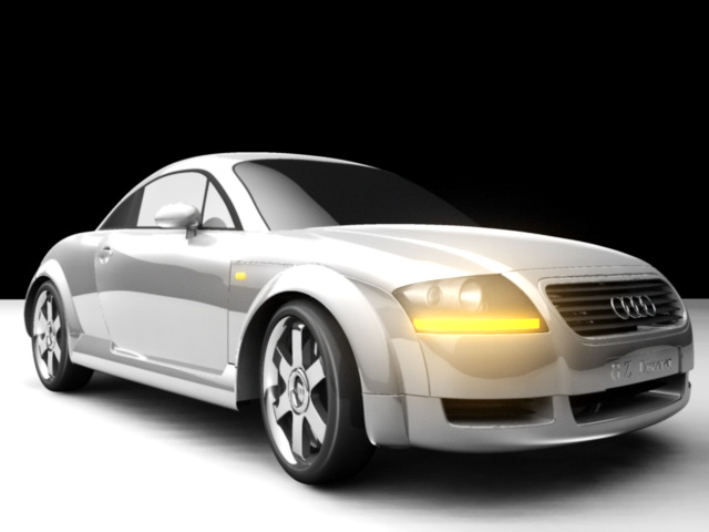 Audi Coupe Car 3d model