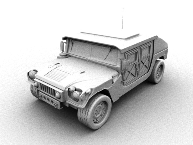 2012 Hummer H1 3d Model Maya Files Free Download Modeling 43831 On
