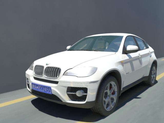 BMW X6 SUV 3d model