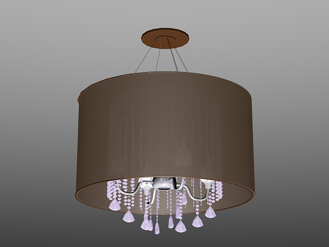 Drum Chandelier with Crystals 3d model