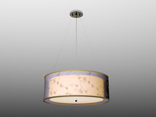 Modern Drum Pendant Lighting 3d model