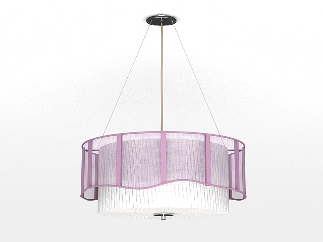 Drum Pendant Light Fixture 3d model