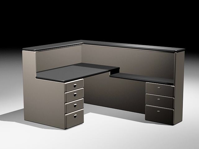 Modular Office Cubicles Model Max Free Download Modeling Cadnav