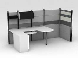 Modern Office Cubicles 3d model