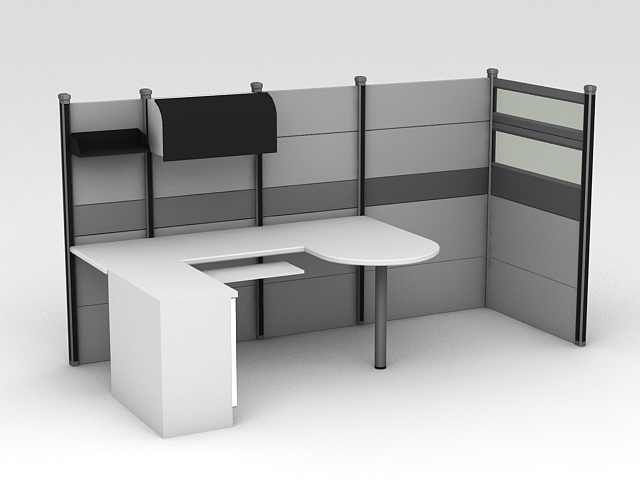 Modern Office Cubicles 3d model