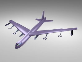 Purple Airliner 3d model