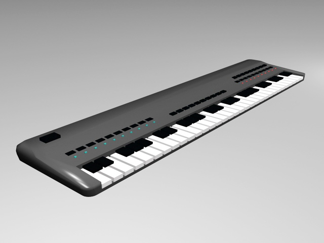 Electronic Keyboard 3d model